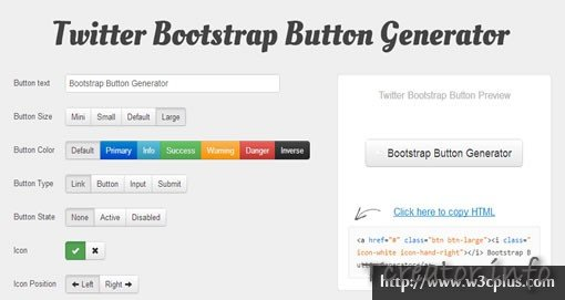 Twitter Bootstrap Button Generator