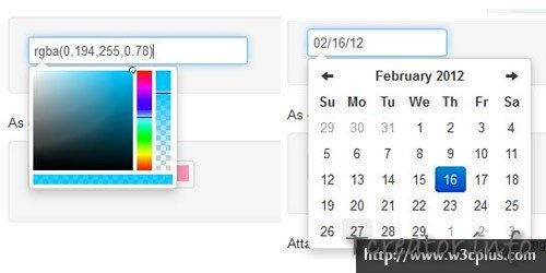Colorpicker and Datepicker