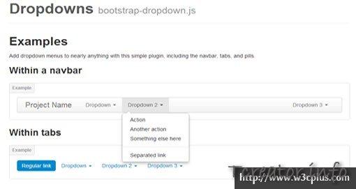 Dropdowns bootstrap-dropdown.js