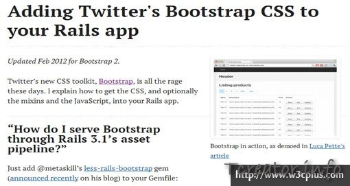 Adding Twitter's Bootstrap CSS to your Rails app