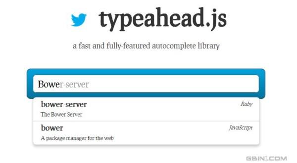 来自Twitter的自动文字补齐jQuery插件 - Typeahead.js