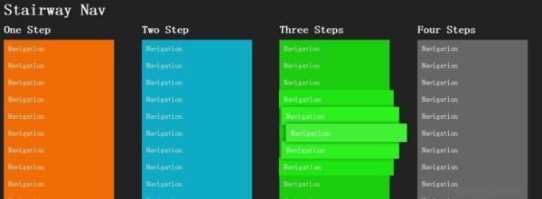 分享一个使用jQuery实现的楼梯台阶状的菜单特效实现