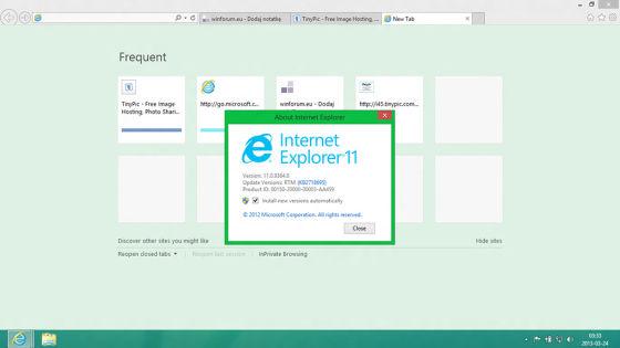 Windows Blue集成了IE11