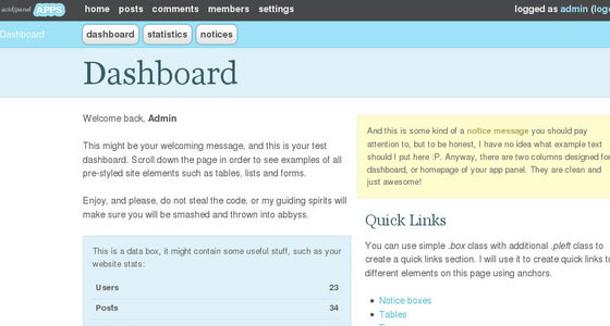 Admin Page Design Inspirations