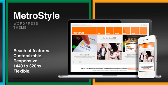metro UI design wordpress themes