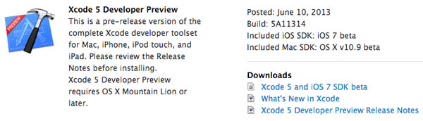 xcode 5 developer preview