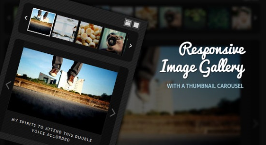 Responsive Image Gallery with Thumbnail Carousel