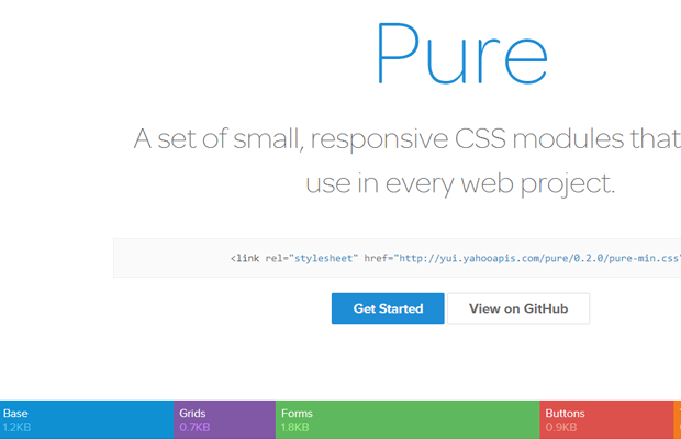 pure css library open source webdev project