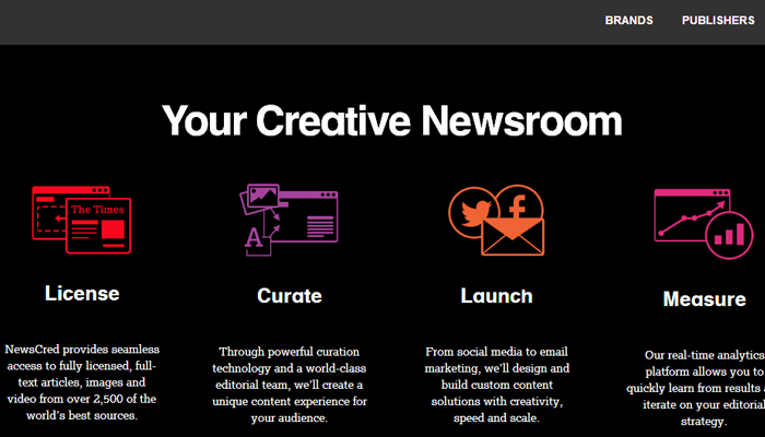 news cred startup homepage icons