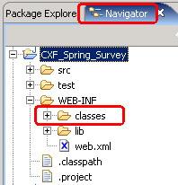 图 4. 利用 CXF 开发 Web Services 的工程骨架示意图
