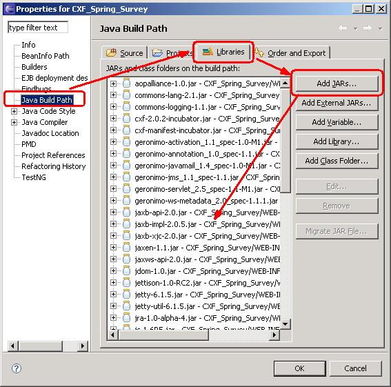 图 6. Eclipse 中引入所有 .jar 文件后的示意图