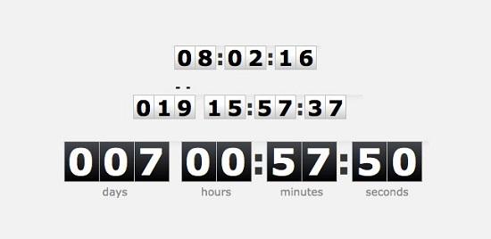 TimeTo - jQuery plugin timer countdown digital clock