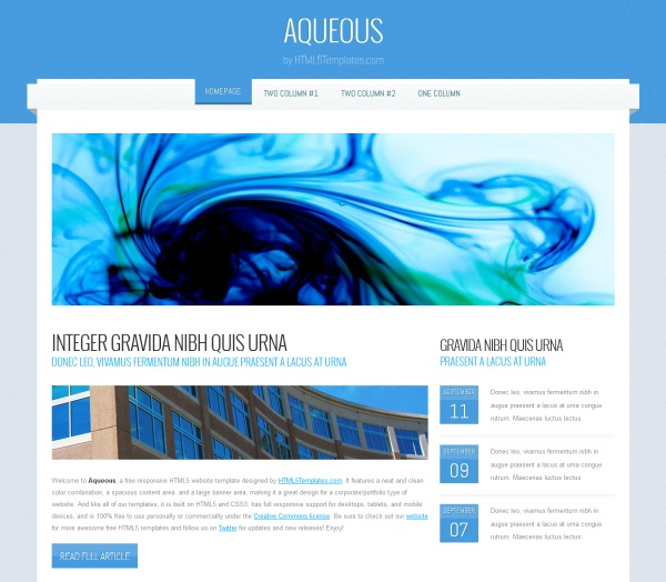 news site template free download - 20 html5 css3