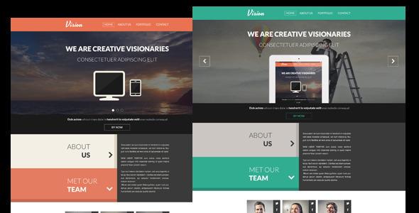 Vision - One Page Flat Concrete5 Portfolio Theme