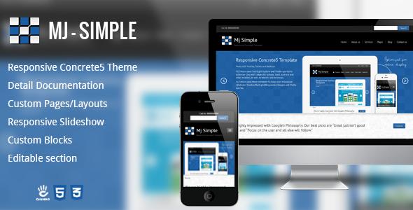 Mj Simple -Responsive Concrete5 theme