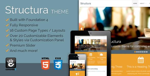 Structura Responsive Multi-Purpose Concrete5 Theme