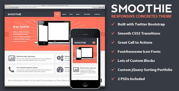 Smoothie - Responsive Concrete5 Theme