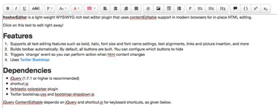 fresherEditor-jQuery-Rich-html-Text-Editor
