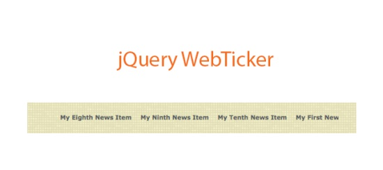 jQuery-WebTicker-Plugin