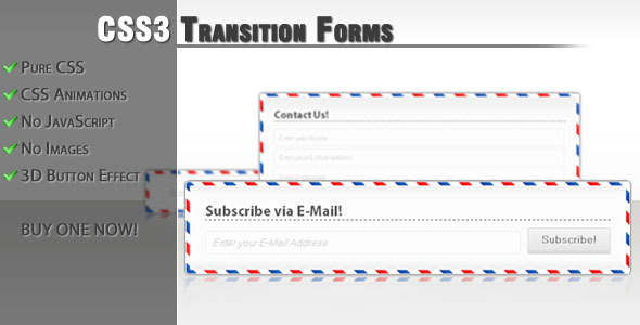 CSS3 transition forms