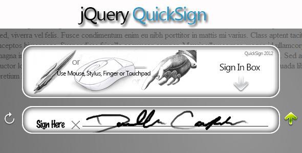 jQuery QuickSign - HTML5 Signing Plugin