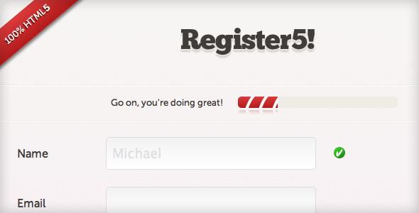 Register5 - HTML5 Register Form