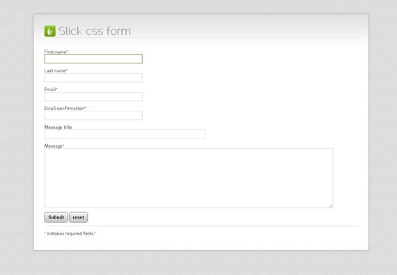 Slick CSS Form