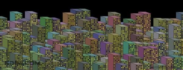 使用CSS和javascript实现的2100年城市效果
