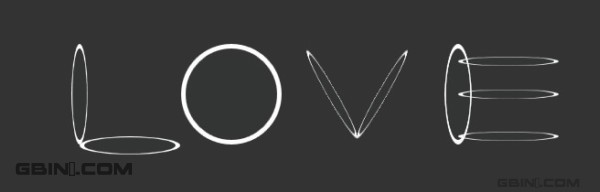使用CSS 实现的圆圈的组合效果。L.O.V.E