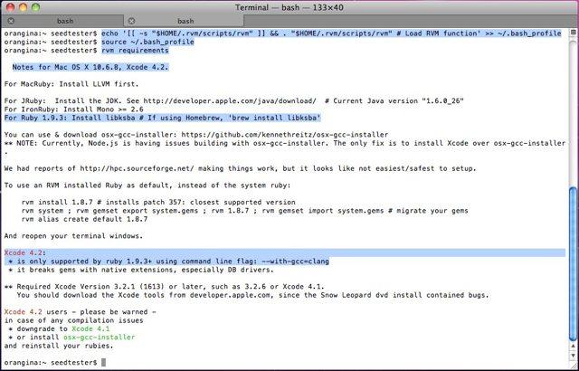 How to Install Xcode, Homebrew, Git, RVM, Ruby     - 随影求是的个人