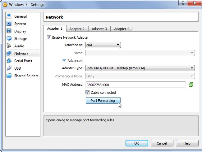 port-forwarding-virtualbox