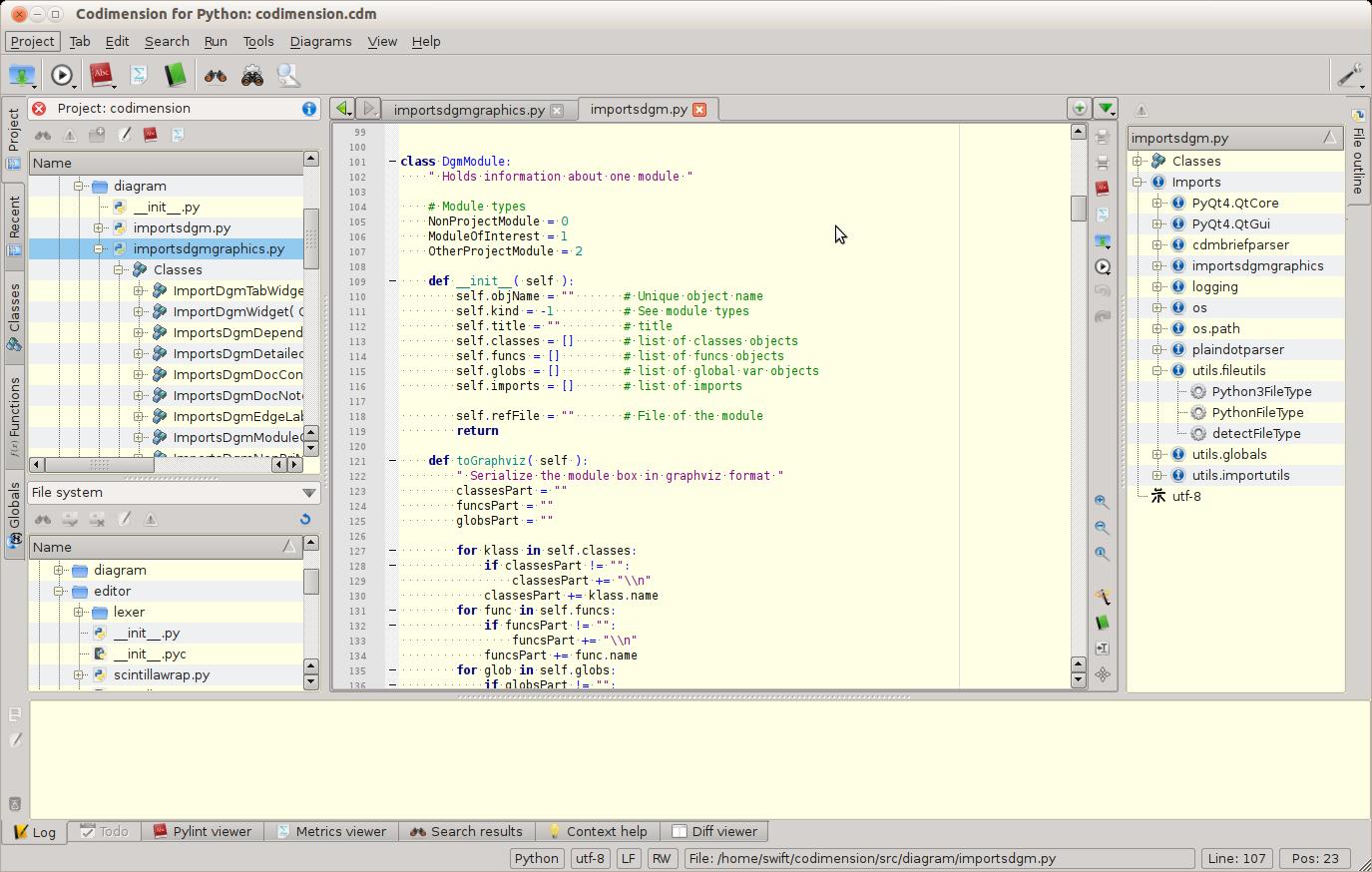 Codimension —— Python 集成开发环境