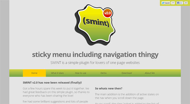 smint-jQuery plug-in