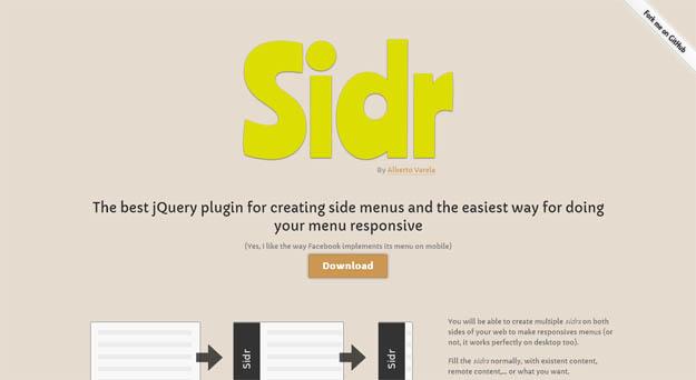 sidr-jQuery plug-in