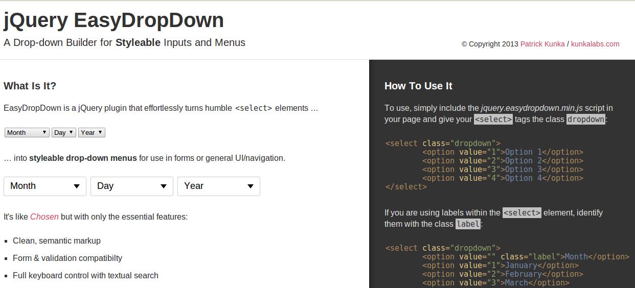 easydropdown-jQuery plug-in