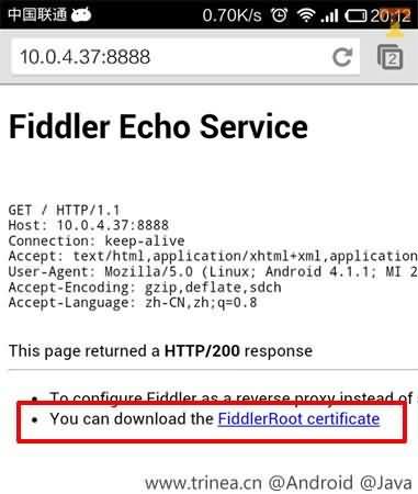 fiddler certifacate