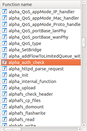 Alphanetworks' custom functions
