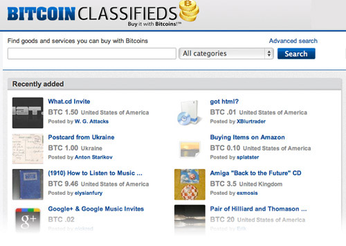 bitcoin classifieds