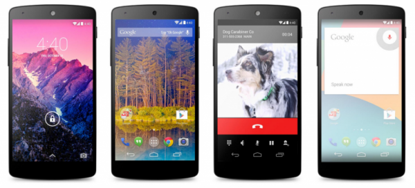 The Nexus 5 will be the first to run Android KitKat