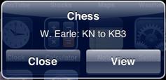 A remote notification alert
