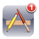 Application icon with a badge number
