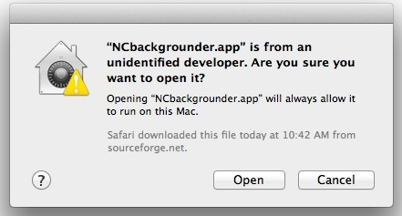 Temporarily get around the App Cant Be Opened message in Mac OS X