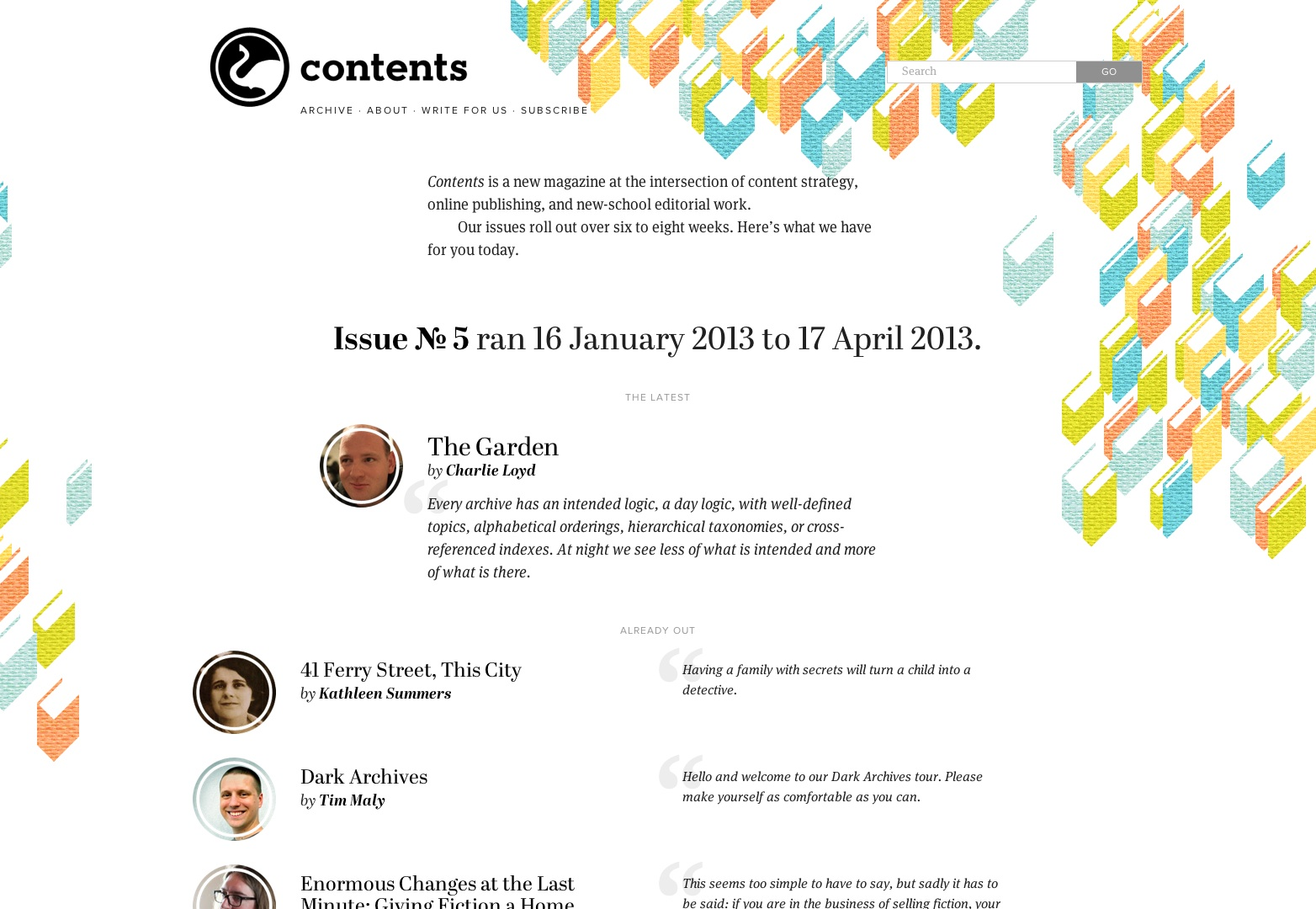 Contents Magazine | a new magazine for new-school editorial