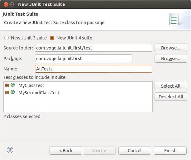 Create a test suite