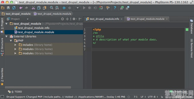 PhpStorm创建Drupal模块项目开发教程
