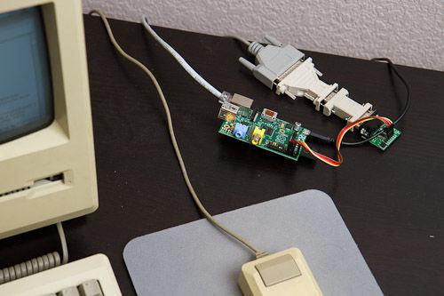 尽管配置很低,但这台Macintosh Plus还是被接入了互联网