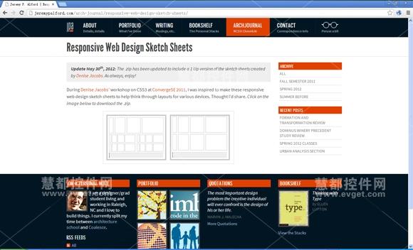 Responsive Web Design Sketch Sheets,响应式web设计