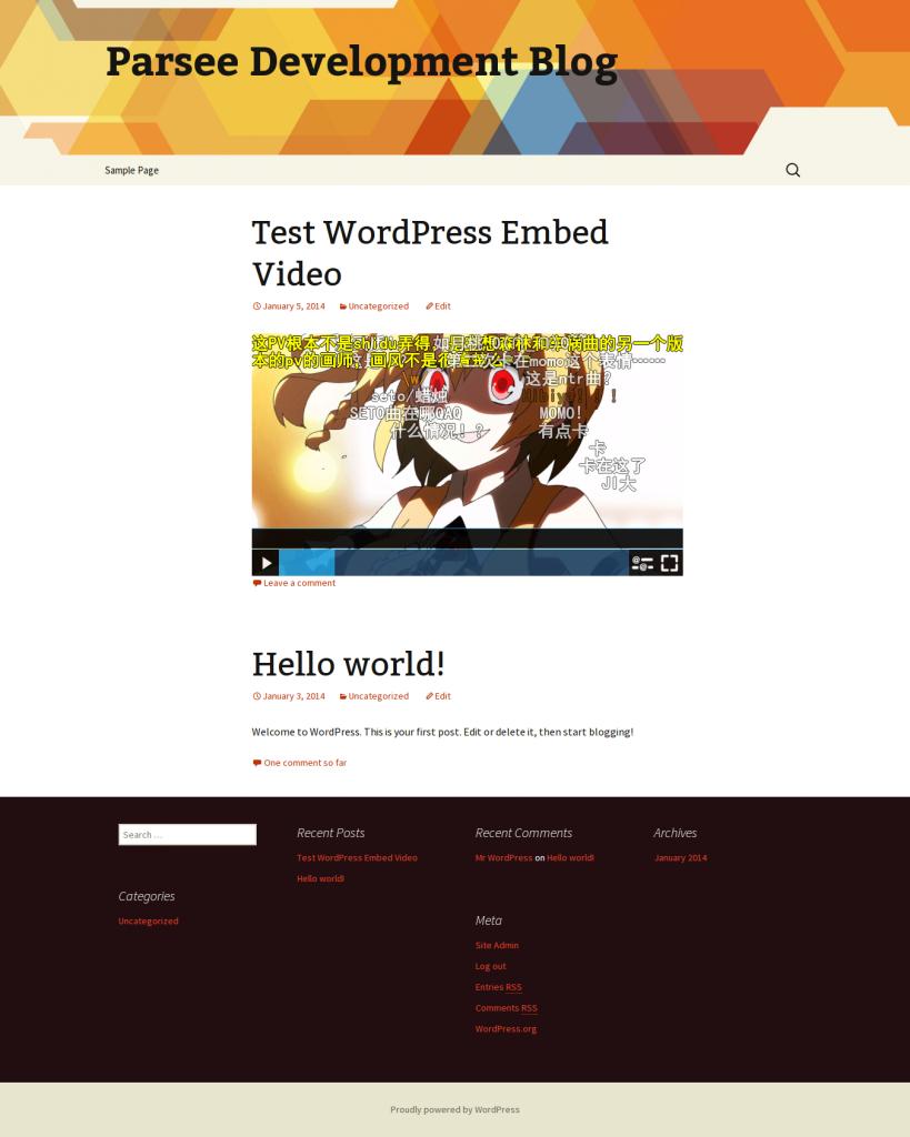 在Wordpress上的弹幕播放模块