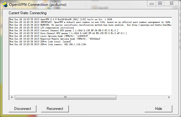 在pcduino搭建openvpn服务器