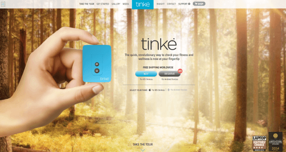 Screenshot from Tinke